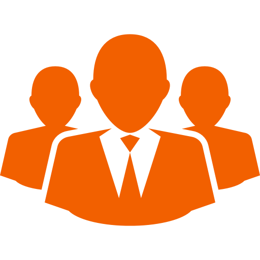 Icône d'affaires et d'entrepreneurs (symbole png) orange