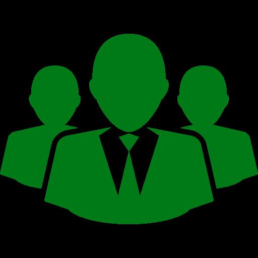 Icône d'affaires et d'entrepreneurs (symbole png) vert