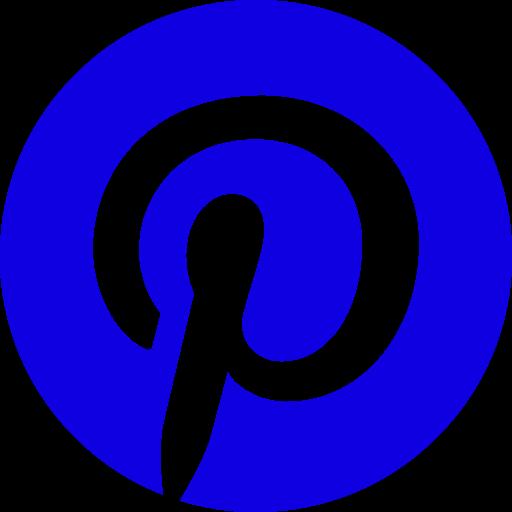 Logo Pinterest (icône et symbole png) bleu