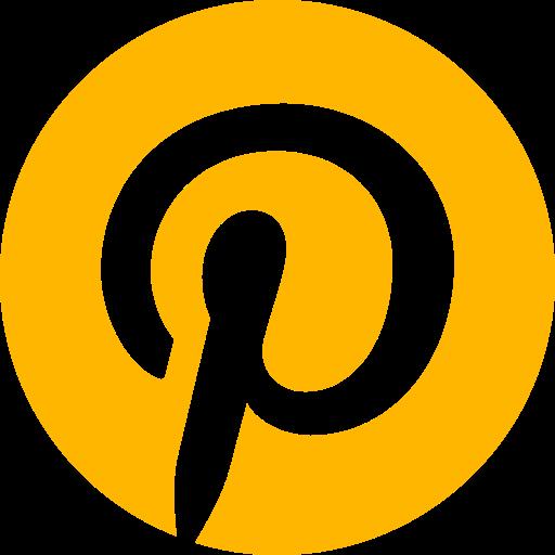 Logo Pinterest (icône et symbole png) jaune