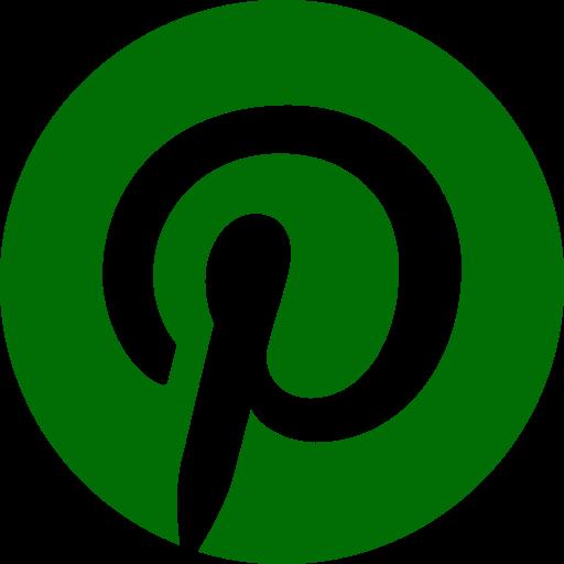 Logo Pinterest (icône et symbole png) vert