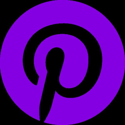 Logo Pinterest (icône et symbole png) violet