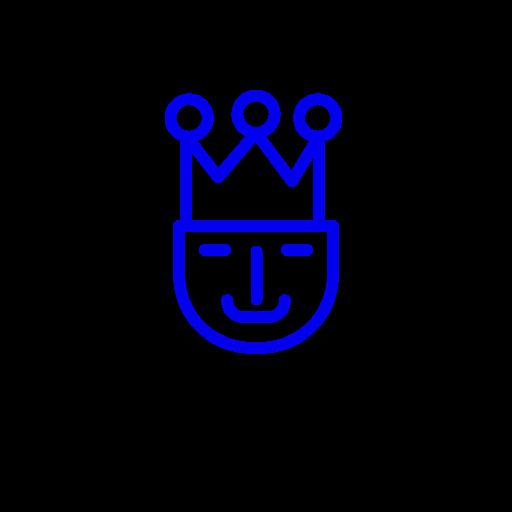 Symbole du roi (icône png) bleu