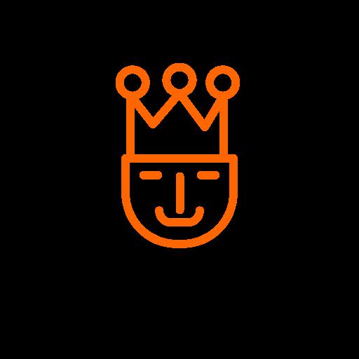 Symbole roi (icône png) orange