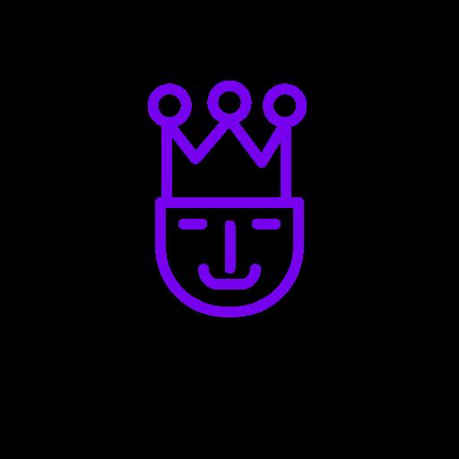 Symbole du roi (icône png) violet