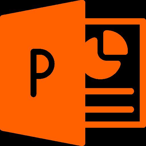 Icône de fichier PowerPoint (symbole png) orange