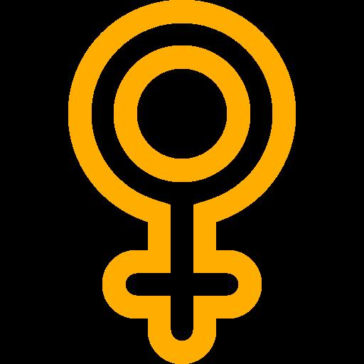 Icône femme femme (symbole png) jaune