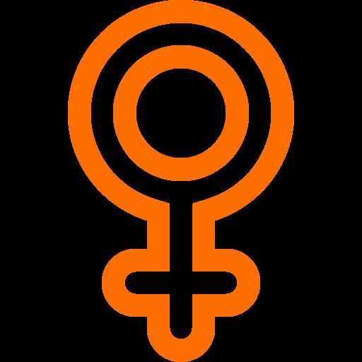 Icône femme femme (symbole png) orange