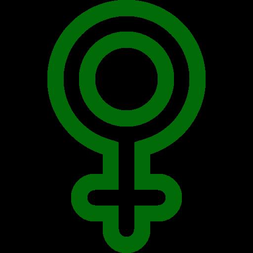 femme femme icône (symbole png) vert