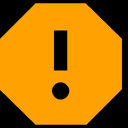 Icône de rapport avec point d'exclamation jaune (symbole png)